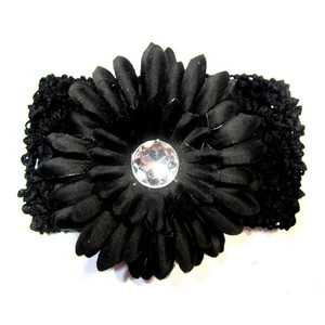 Flower Headband - Black