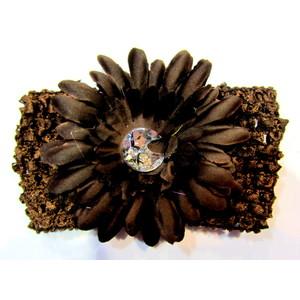 Flower Headband - Brown
