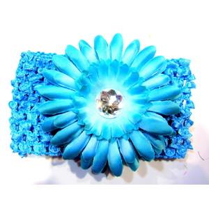 Flower Headband - Turquoise