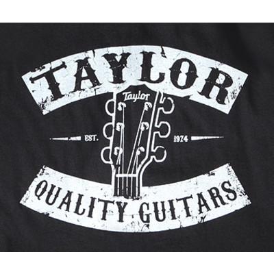 Taylor Vintage Peghead T-Shirt - Black, Small - Taylor Guitars - Taylorware, Home and Gifts - 14804
