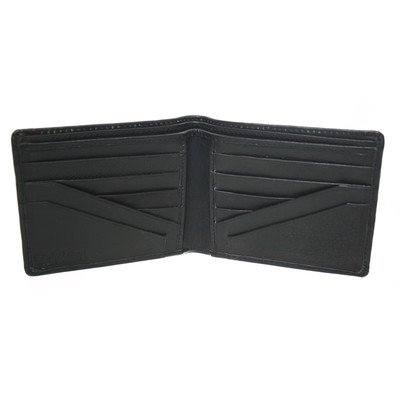Men's Bi-fold 12-Pocket Wallet, Black