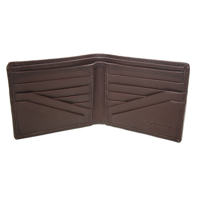Men's Bi-fold 12-Pocket Wallet with Double Billfold, Dark Brown