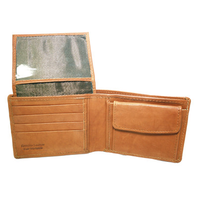 Men's 9-Pocket Wallet with Flip-Up ID Section