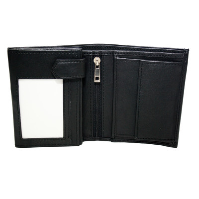Unisex 8-Pocket Wallet with Coin Compartment