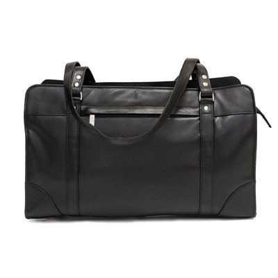 Ladies' Leather Briefcase with Shoulder Straps