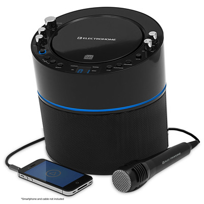 Electrohome Karaoke Machine and Speaker System with CD+G Player with 2 Microphone Connections, & AUX input for Smartphones  (871363017253)