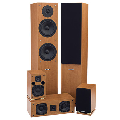 Fluance SXHTB High Definition Surround Sound Home Theater 5.0 Channel Speaker  System including Floorstanding Towers, Center and Rear Speakers