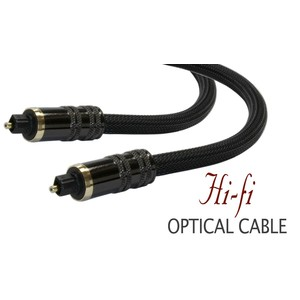 High Performance 35ft Braided Toslink Optical Digital Audio Cable with Metal Grips