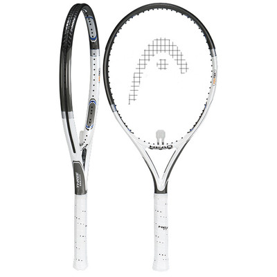 Head YOUTEK THREE STAR White Tennis Racquet, Strung.