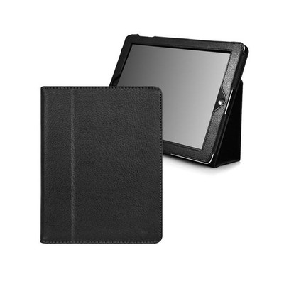 iPad 2/3 PU Leather Case with Stand - Black Color
