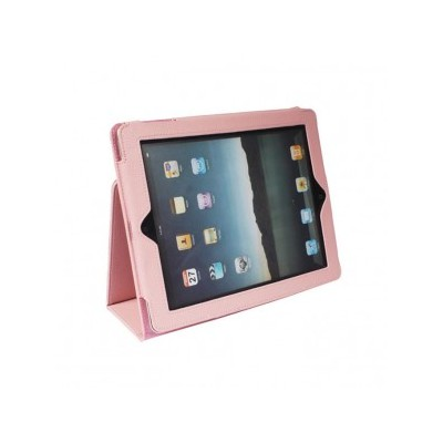 iPad 2/3 PU Leather Case with Stand - Pink Color