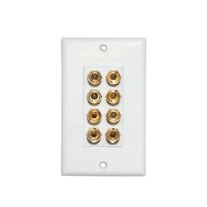 Quest SWP-4 Speaker Decora Wall Plate for 4 Speakers