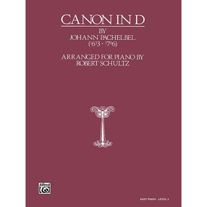 SheetMusic Canon in D - Schultz (EP) - Alfred Music - 00-0155CP2X