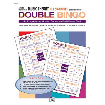 Music Essentials of Music Theory Double Bingo Game - Key Sig