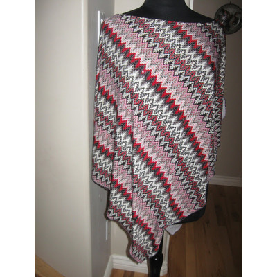 Red Sequined Silky Poncho