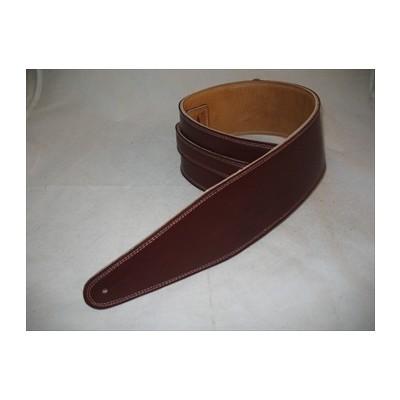 Pete Schmidt U1-103-1C Guitar Strap with Cream Stitch - Wine Red - Pete Schmidt - U1-103-1C