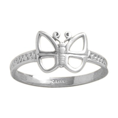 Genuine Sterling Silver Butterfly Baby Ring