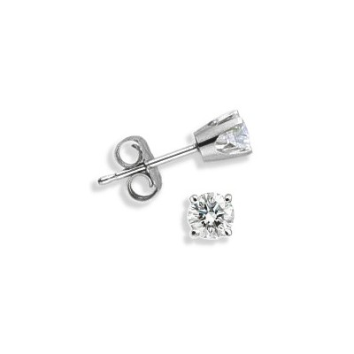 Baby 0.14 TCW White Gold Diamond Stud Earrings