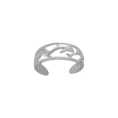 Genuine Sterling Silver Dolphin Toe Ring
