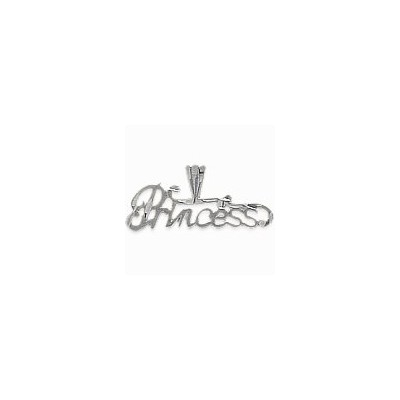Genuine Sterling Silver PRINCESS Charm Pendant with chain