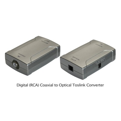 Coaxial RCA-to-Optical Toslink Converter