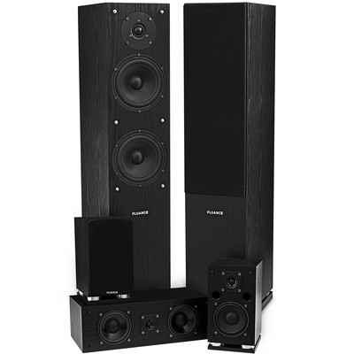 Fluance SXHTB-BK 5 Speaker Surround Sound Home Theater System - Black