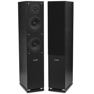 Fluance SXHTBFR High Definition Two-way Floorstanding Main Speakers - Black (871363024633)