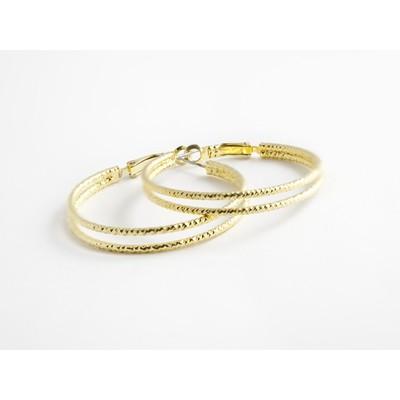 """.75"""" Gold Hoop Earrings"""