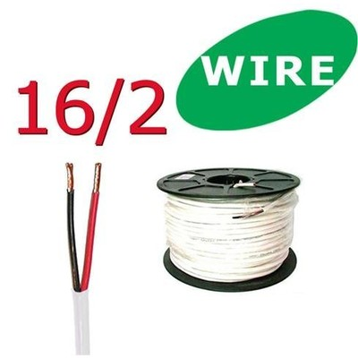 16/2 Awg 100 ft Oxygen Free In Wall Speaker Wire FT4 / UL Rated