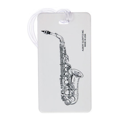 Plastic ID Tag - Saxophone - Aim - 1708