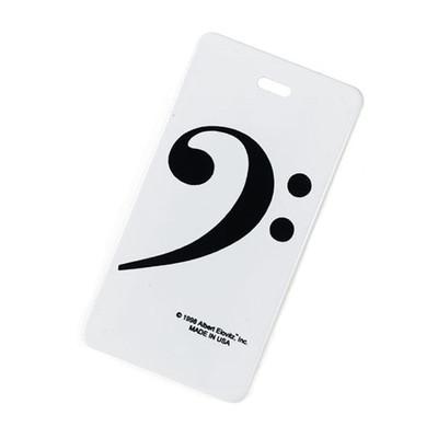 Plastic ID Tag - Bass Clef - Aim - 1728