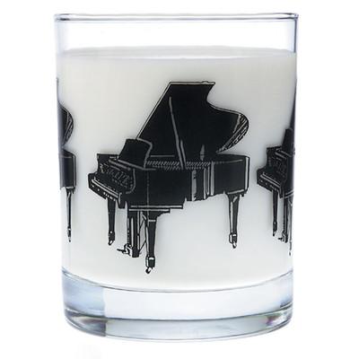 Music Themed Glass Tumbler - Grand Piano - Aim - 2205
