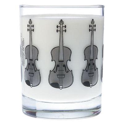 Music Themed Glass Tumbler - Violin - Aim - 2206