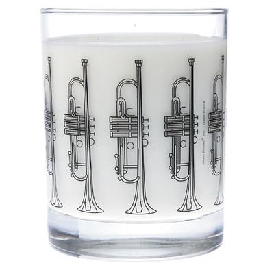 Music Themed Glass Tumbler - Trumpet - Aim - 2210