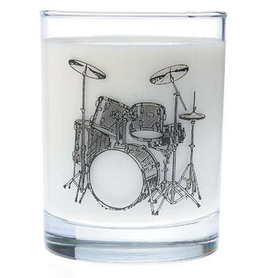 Music Themed Glass Tumbler - Drums - Aim - 2213
