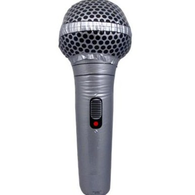 "Inflatable Microphone Aim 28"" Gold or Silver - Aim - 32612"