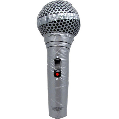 "Inflatable Microphone Aim 12.5"" Gold or Silver - Aim - 32613"