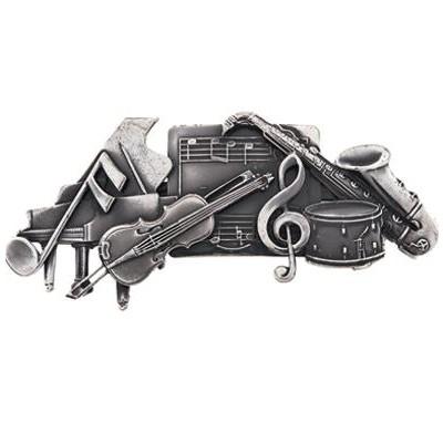 Hair Clip Aim Silver Musical Collage - Aim - 35903