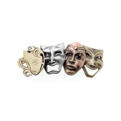 Hair Clip Aim Tri-Colour Theater Masks - Aim - 35907