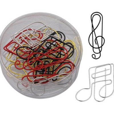 Paper Clip Aim G-Clef And Note Asst Colors 15/Box - Aim - 42400