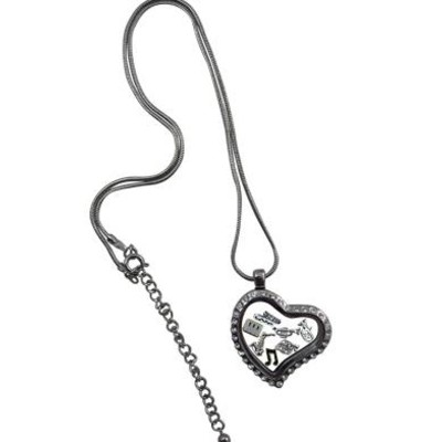 Necklace Aim Locket with Rhinestones - Aim - 54300