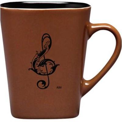 Mug Aim Square Bottom G-Clef Tan - Aim - 56155