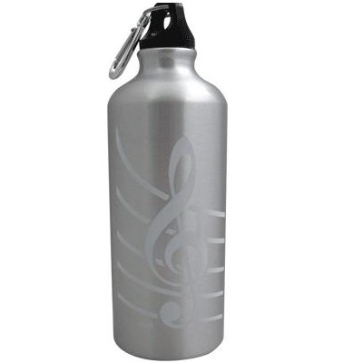 G-Clef Aluminum Water Bottle - Silver - Aim - 71490