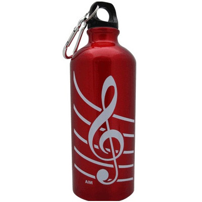 G-Clef Aluminum Water Bottle - Red - Aim - 71490C