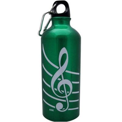 G-Clef Aluminum Water Bottle - Green - Aim - 71490D