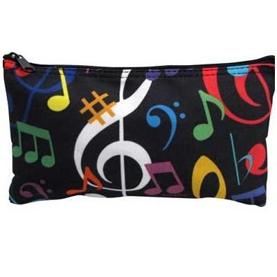 Pouch Zipper Aim Music Notes in Colours - Aim - 71799