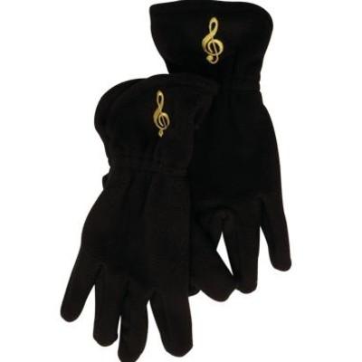 Gloves Aim Fleece G-Clef Black - Small/Medium - Aim - 9915SM
