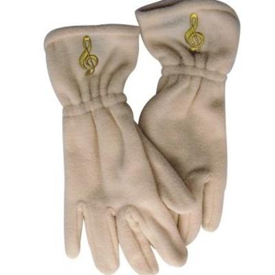 Gloves Aim Fleece G-Clef Off-White - Medium/Large - Aim - 9916ML