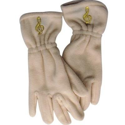 Gloves Aim Fleece G-Clef Off-White - Small/Medium - Aim - 9916SM