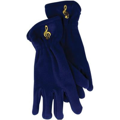 Gloves Aim Fleece G-Clef Royal Blue - Small/Medium - Aim - 9918SM